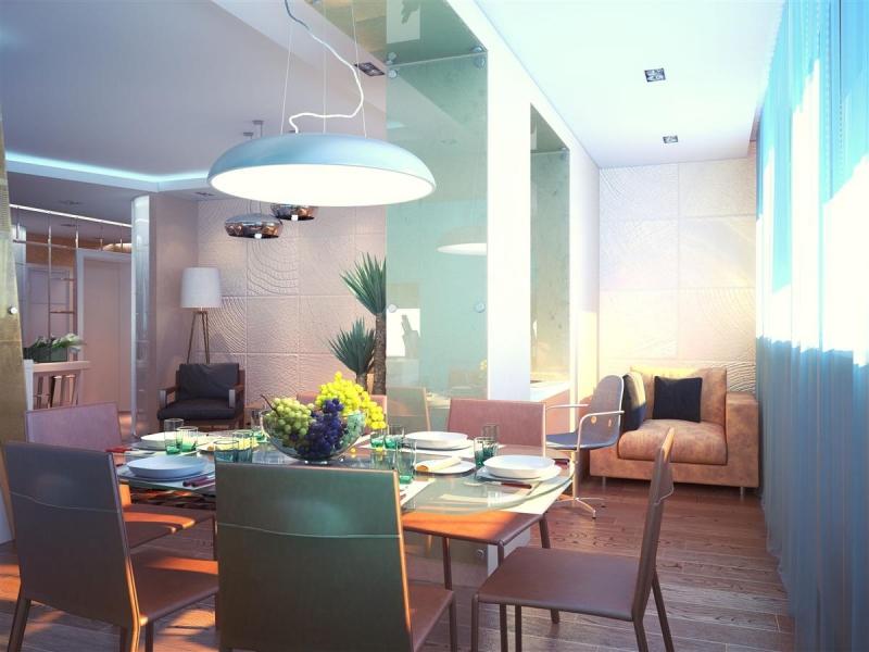 Комната, объединенная с балконом - дизайн интерьера квартиры.