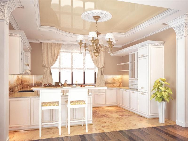 Кухня в коттедже дизайн фото