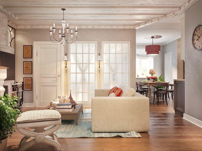Потолок в стиле прованс фото