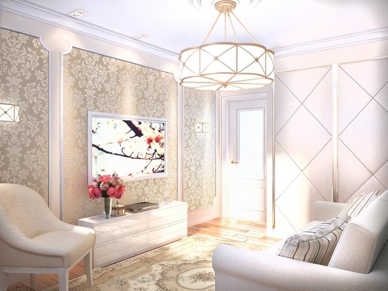 Дизайн Гостиной Со Встроенными Шкафами