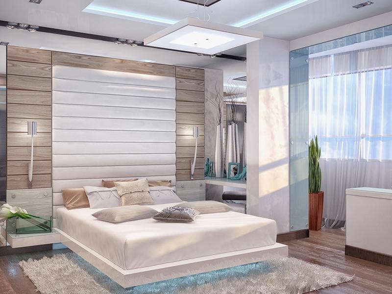 Дизайн спальни 12 кв.м с балконом