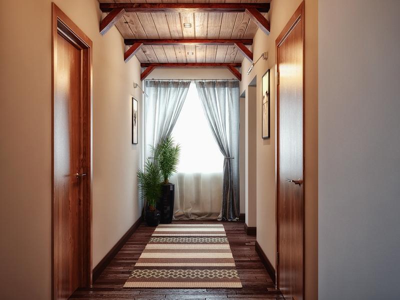коридор большой дизайн фото