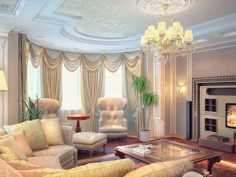 Гостиная с колоннами