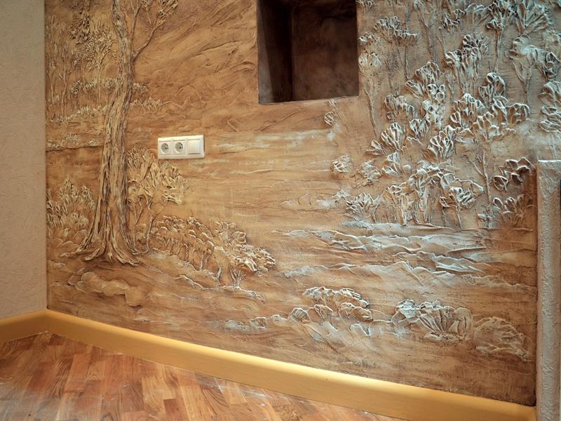 Барельеф, художественная роспись стен Пермь Пермский край, Оса