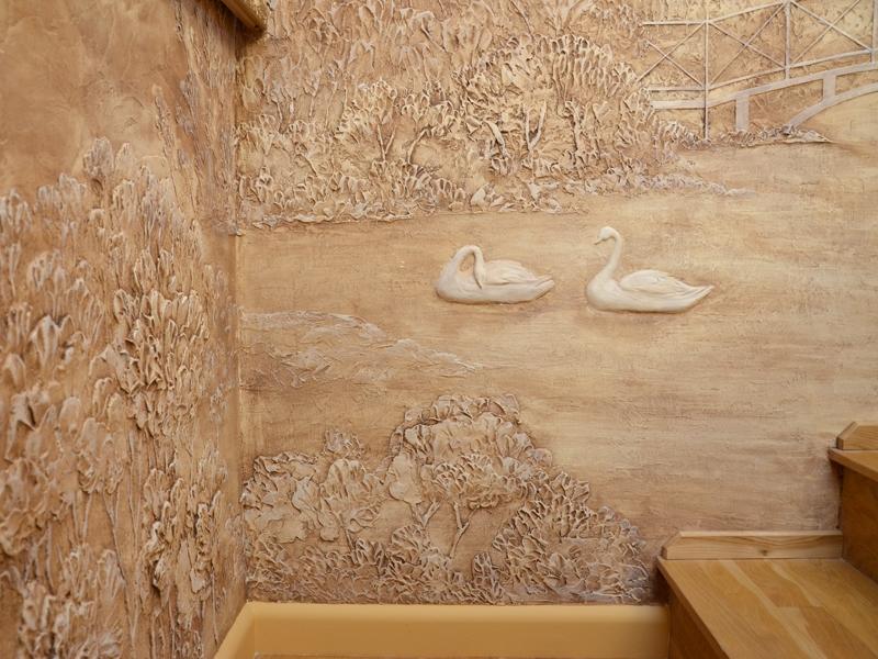 Барельеф, художественная роспись на стенах Пермь Пермский край, Оса