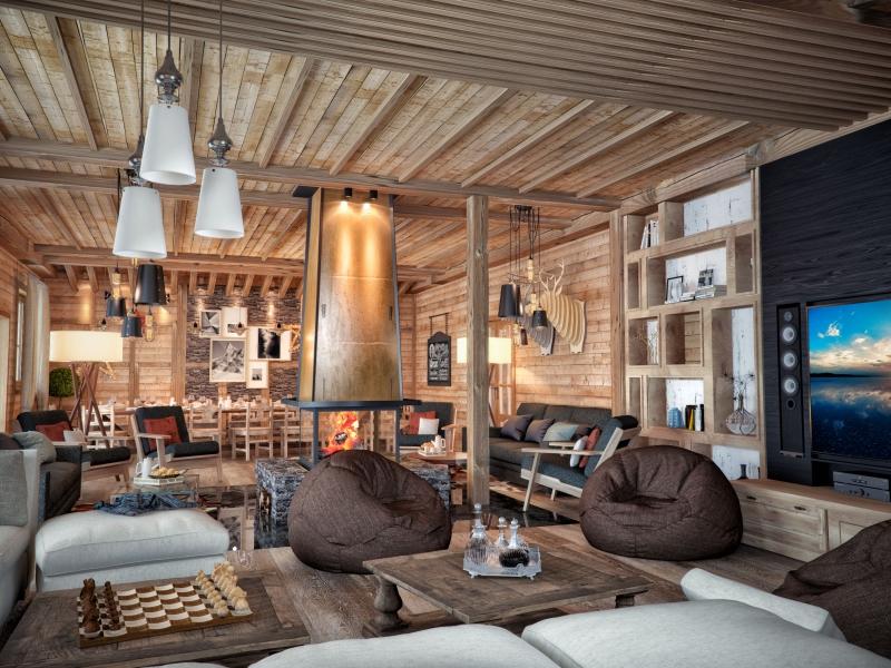 Фото деревянного дома шале 153