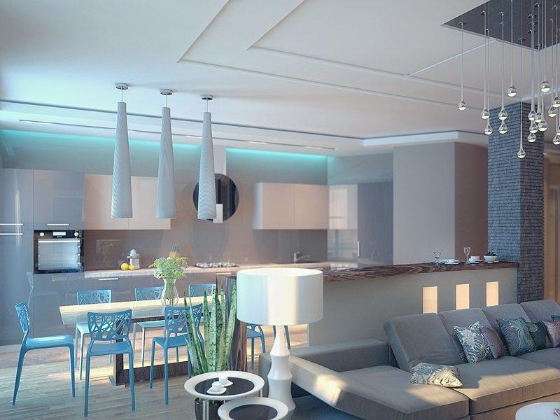 Кухня гостиная тюмень